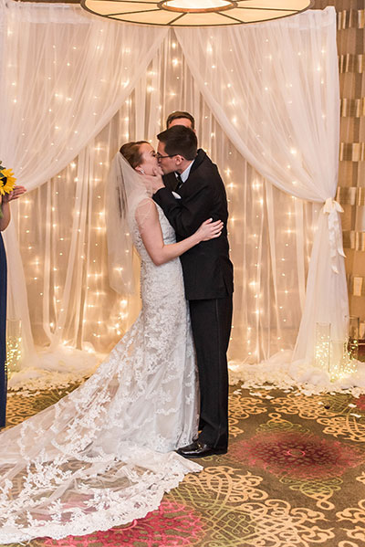Joanna + Glenn First Kiss at Altar - JadeNikkolePhotography