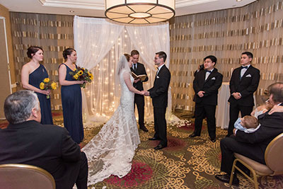 Joanna + Glenn Vows at the Altar - JadeNikkolePhotography