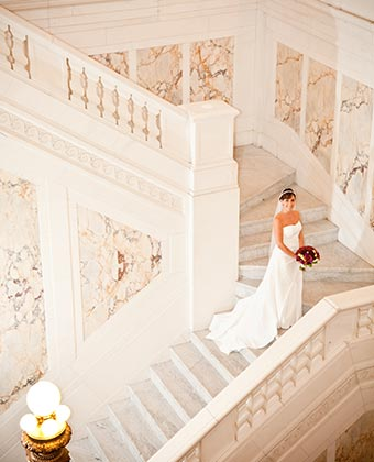 Unique baltimore wedding venues kimpton hotel monaco grand staircase and bride junglespirit Image collections